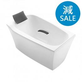 美國 KOHLER Comfortable 45599T-GR58 獨立式纖維浴缸連去水 1350x800x732mm (灰色浴枕、扶手)