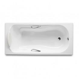 西班牙 ROCA Haiti 2000 233070-WT 生鐵浴缸連扶手 1600x800x420mm 白色
