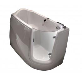 意大利 Gruppo Treesse Gen X 纖維浴缸 連內置龍頭及可拉出式花灑頭 1300mmx750mm