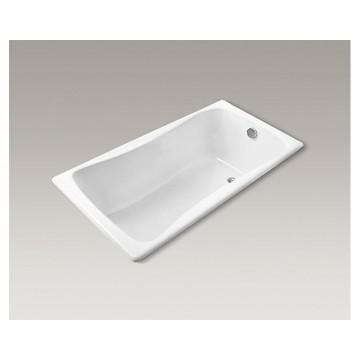 美國 KOHLER Bliss K-17270T 嵌入式生鐵浴缸 1500x750x460mm 白色