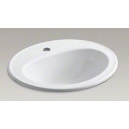 美國 KOHLER Pennington 2196.1 單孔檯面盆 514x445mm 白色