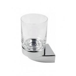 Keuco Solo 01550016000 玻璃漱口杯連座 (鍍鉻)