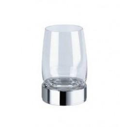 Keuco Elegance 01649016000 玻璃漱口杯連座 (鍍鉻)
