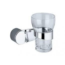 Keuco Amaro 01850019000 玻璃漱口杯連座及01901010000面蓋 (鍍鉻)