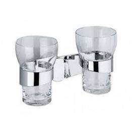 Keuco Amaro 01851019000 雙玻璃漱口杯連座及01901010000面蓋 (鍍鉻)