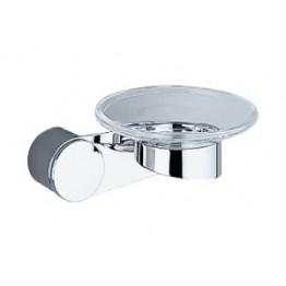 Keuco Amaro 01855019000 玻璃皂碟連座及01901010000面蓋 (鍍鉻)