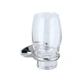 Keuco Cleo 03850019000 玻璃漱口杯連座 (鍍鉻)