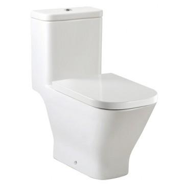 西班牙 ROCA Gap-1 整體式自由咀座廁 配油壓廁板白色
