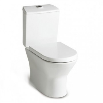 西班牙 ROCA Nexo-2 相連式自由咀座廁配油壓廁板白色