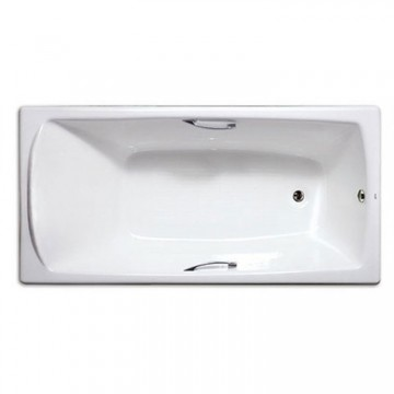 西班牙 ROCA Mykonos 2N0170 生鐵浴缸連扶手 1700mmx750mm 白色