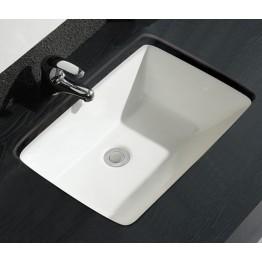 Walrus 220104 長方形檯底面盆連滿水孔 385x515mm