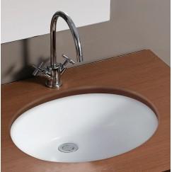 Walrus 220107 橢圓形檯底面盆 495x405mm 白色