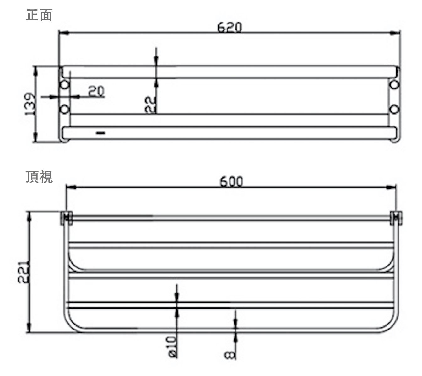Size and Technical Drawing of Moen Alisa ACC2401